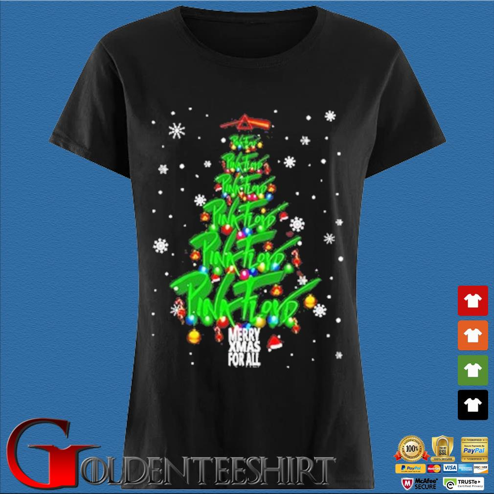 Merry Xmas for all Pink Floyd Christmas tree sweater Den Ladies