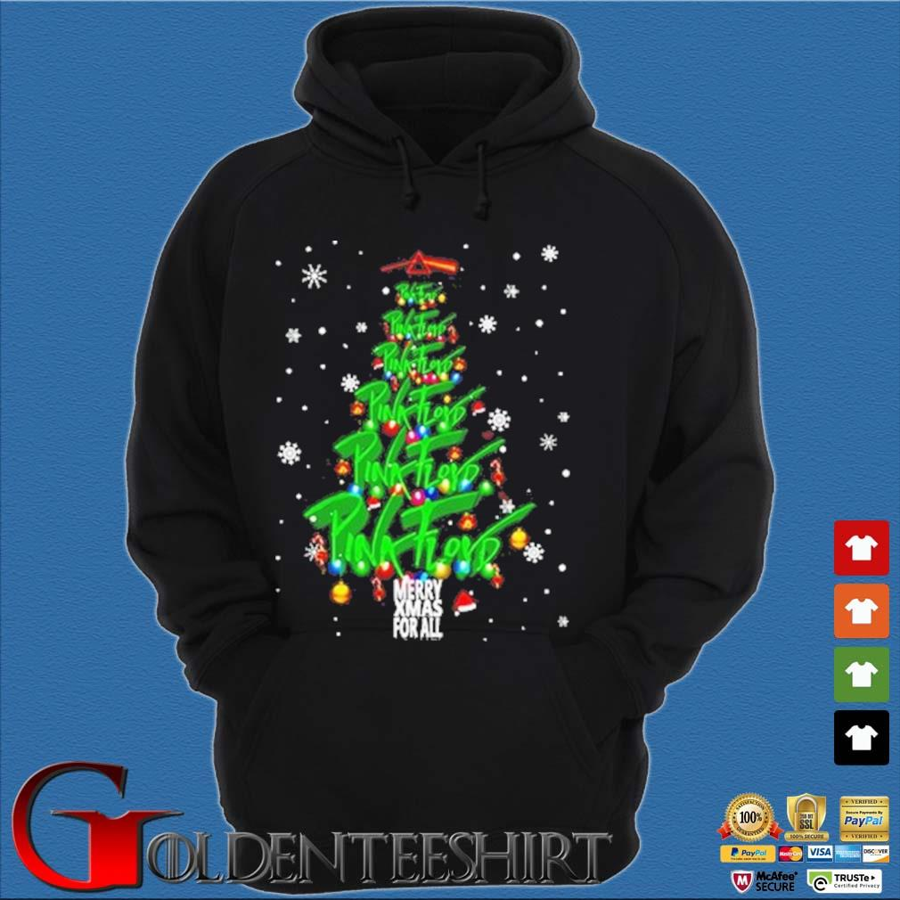 Merry Xmas for all Pink Floyd Christmas tree sweater Hoodie đen