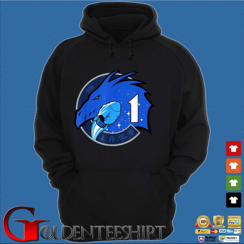 NASA Dragon Mission One Commercial Crew-1 Insignia Shirt Hoodie đen