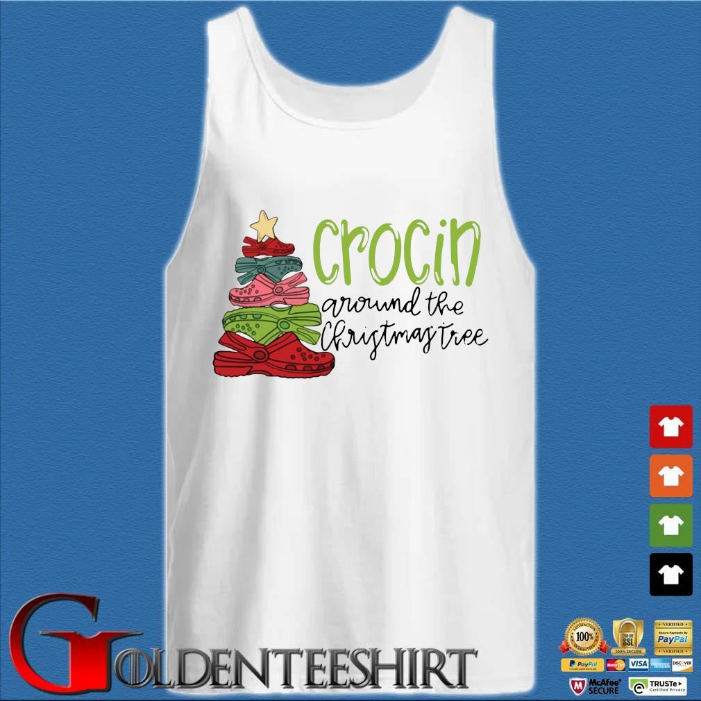 Official crocs crocin around the Christmas tree sweater Tank top trắng