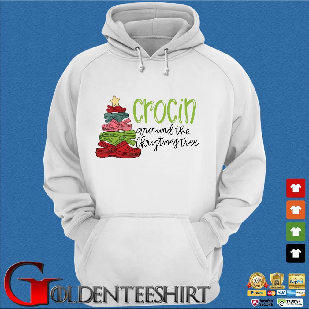 Official crocs crocin around the Christmas tree sweater Trang Hoodie