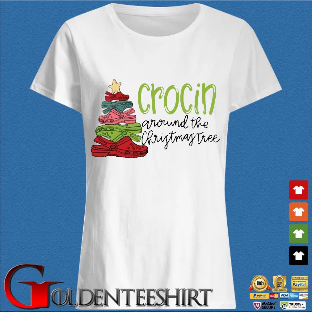 Official crocs crocin around the Christmas tree sweater Trang Ladies