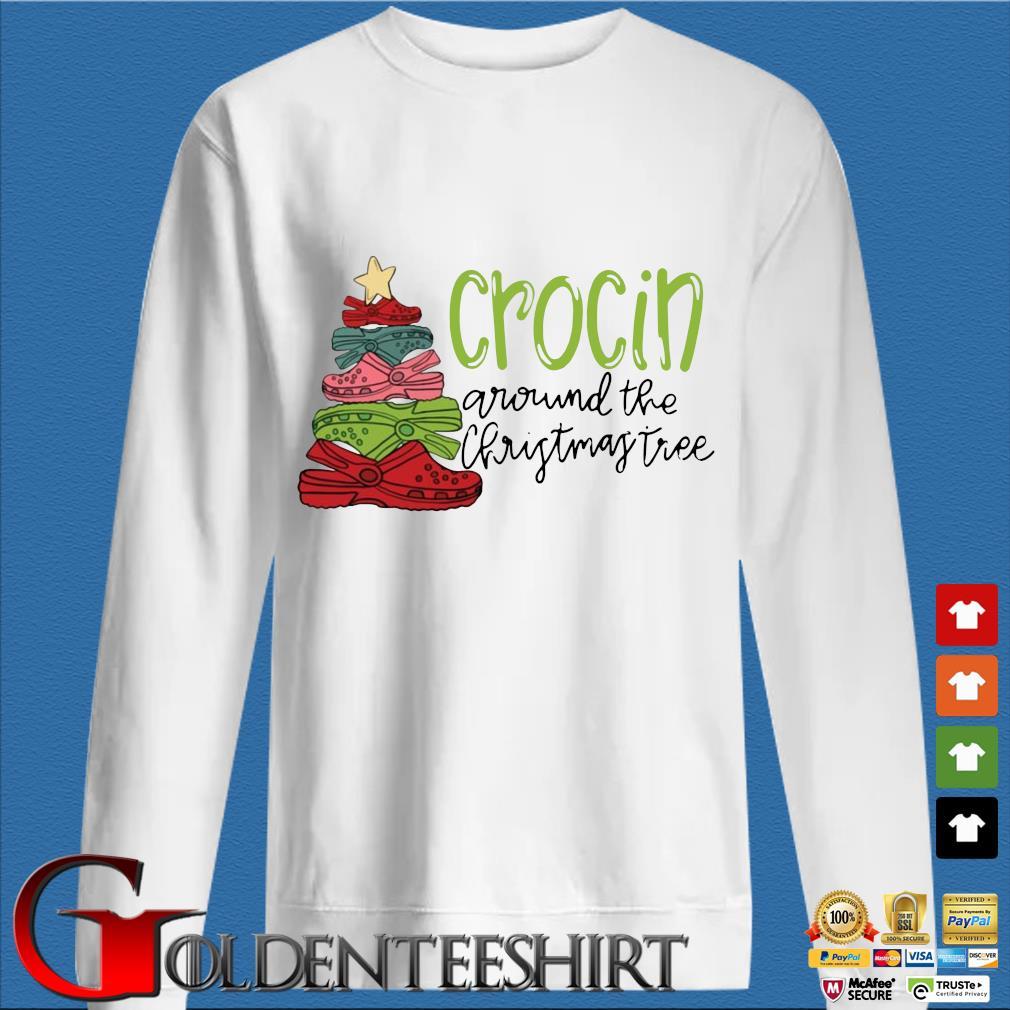 Official crocs crocin around the Christmas tree sweater