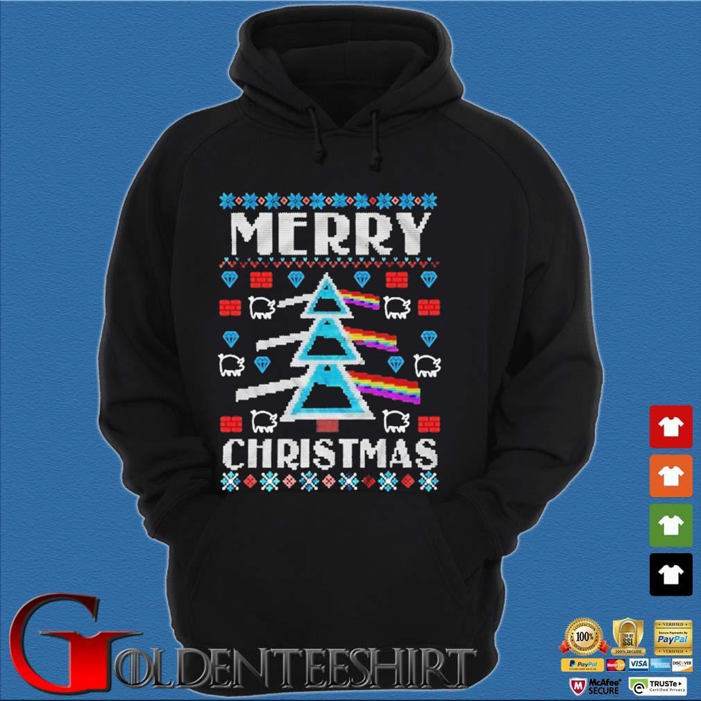Pink Floyd Merry Christmas Ugly Christmas sweater Hoodie đen