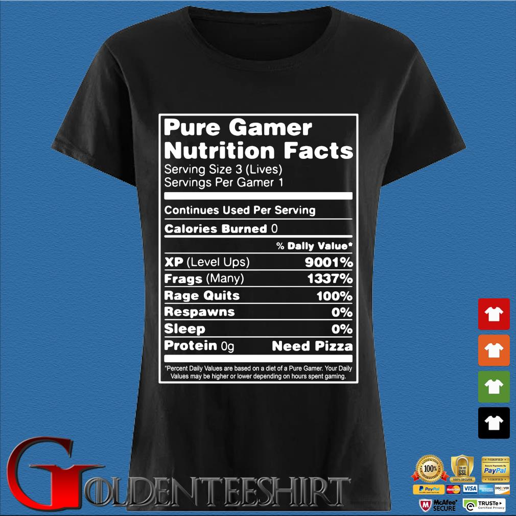Pure gamer nutrition facts serving size 3 s Den Ladies