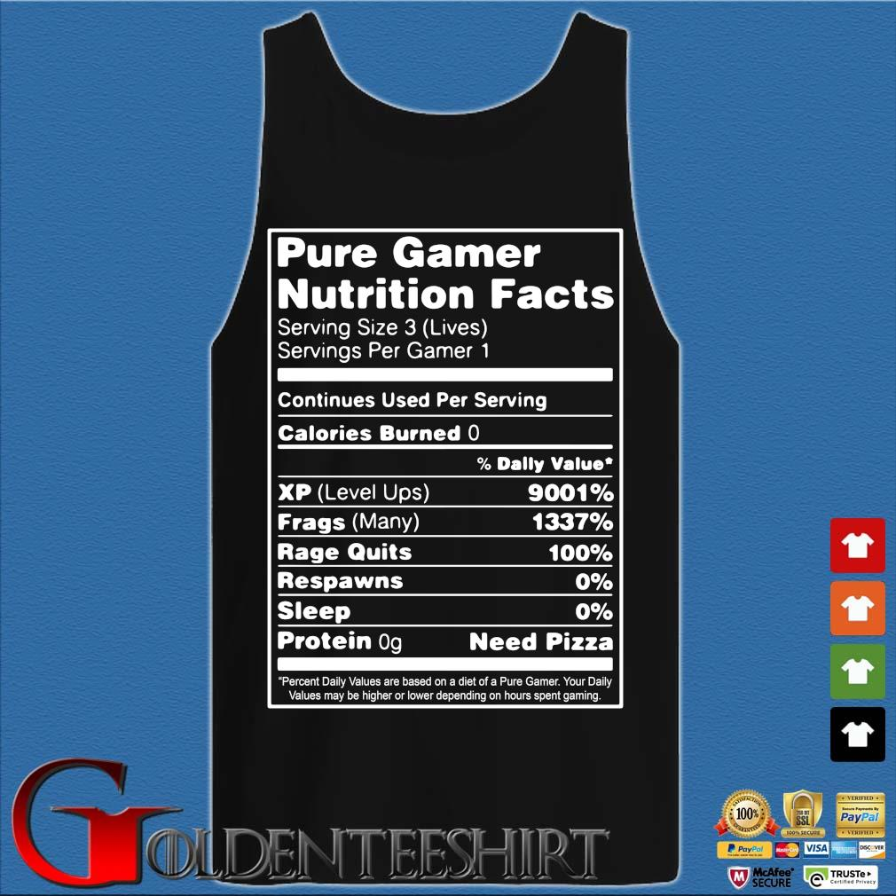 Pure gamer nutrition facts serving size 3 s Tank top den