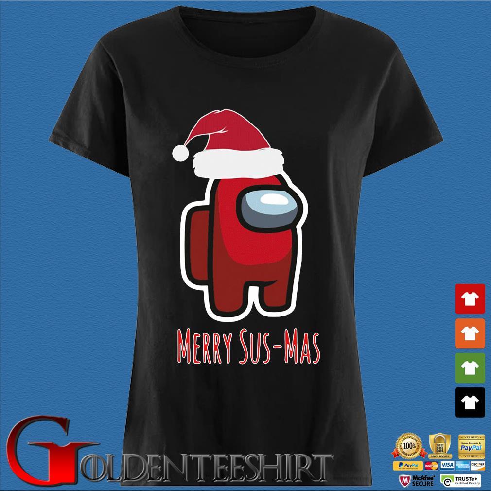 Red Among Us Santa Merry Sus-Mas Christmas Sweater Den Ladies