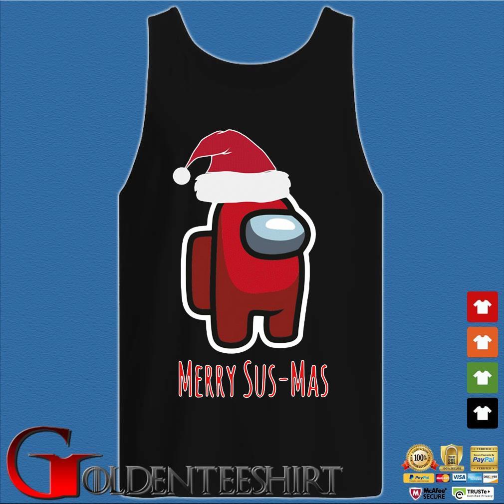 Red Among Us Santa Merry Sus-Mas Christmas Sweater Tank top den