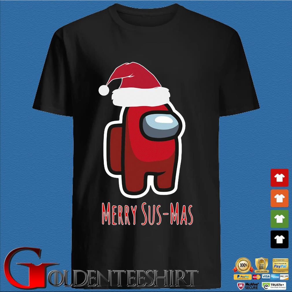 Red Among Us Santa Merry Sus-Mas Christmas Sweater den Shirt