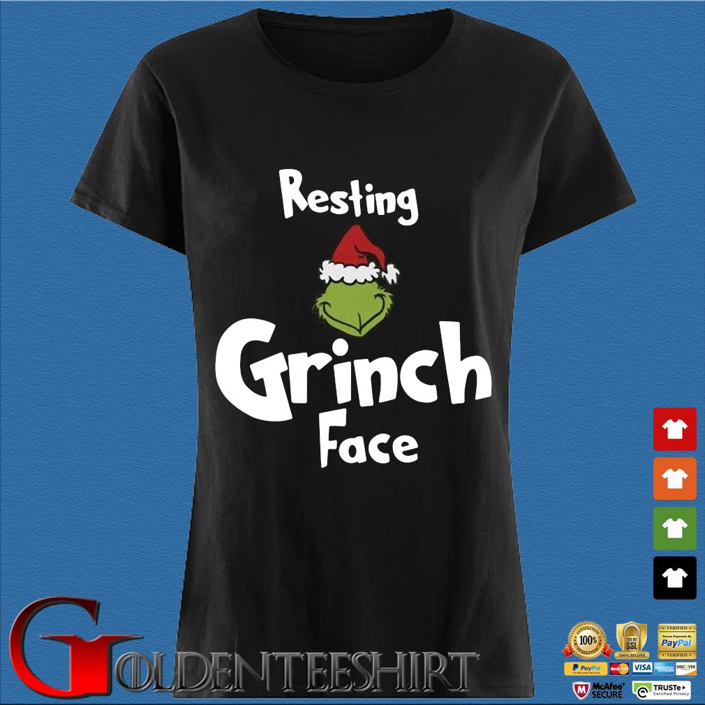 Resting Grinch face Christmas sweater Den Ladies