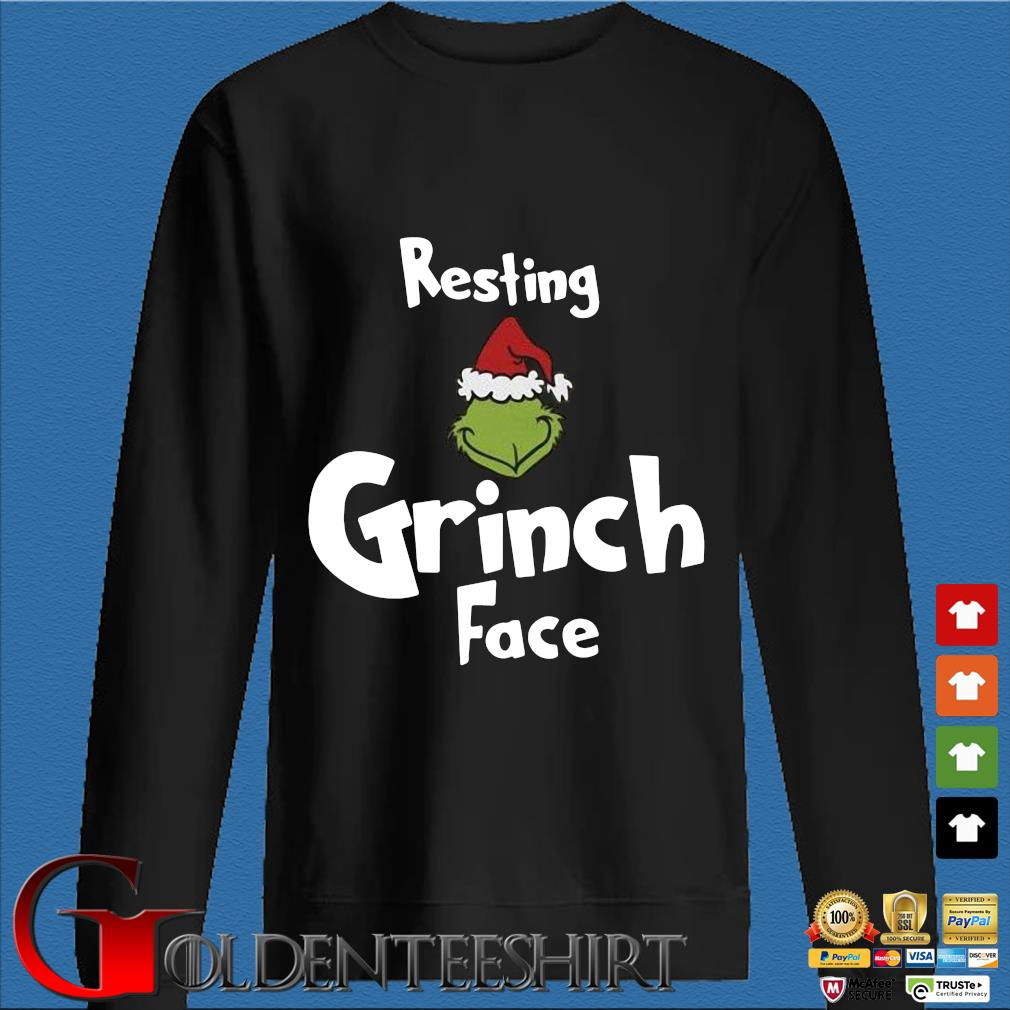 Resting Grinch face Christmas sweater