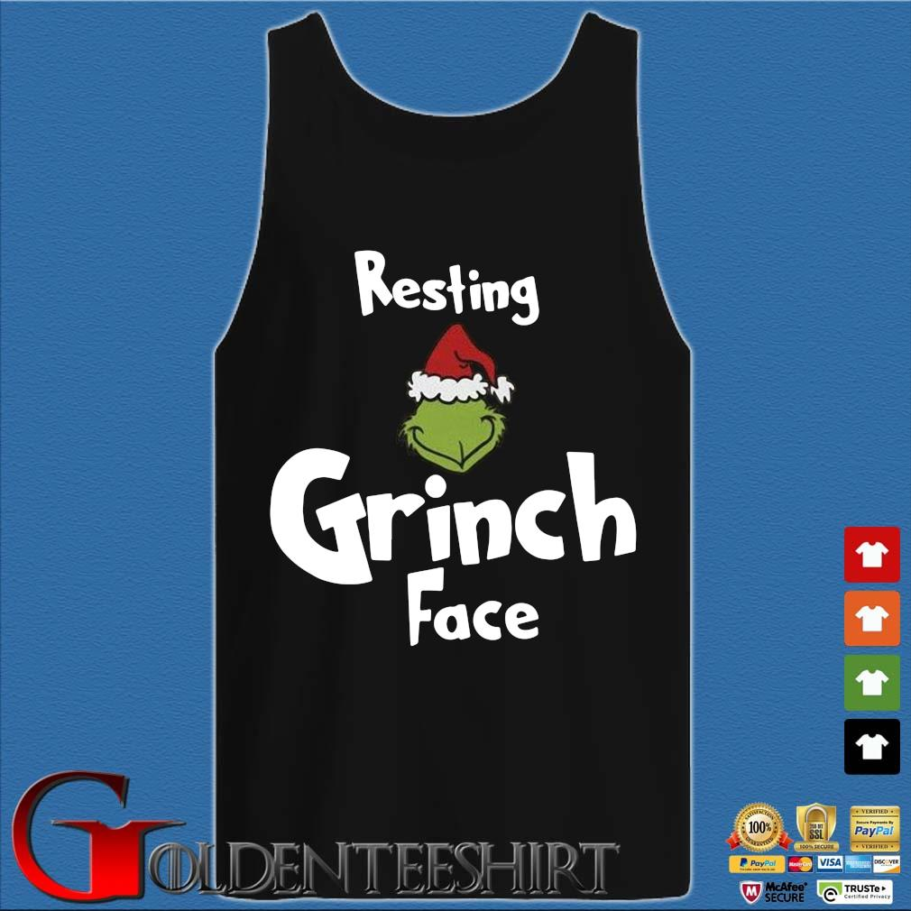 Resting Grinch face Christmas sweater Tank top den
