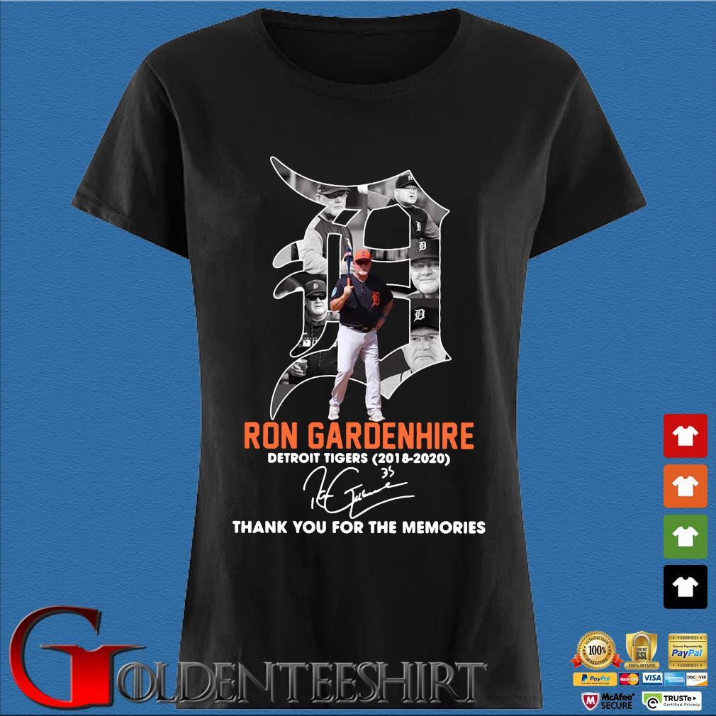 Ron Gardenhire Detroit Tigers 2018-2020 thank you for the memories signature s Den Ladies