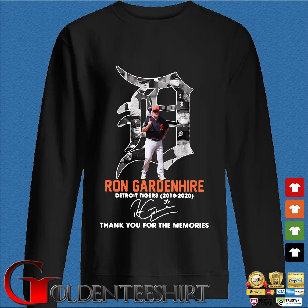 Ron Gardenhire Detroit Tigers 2018-2020 thank you for the memories signature shirt