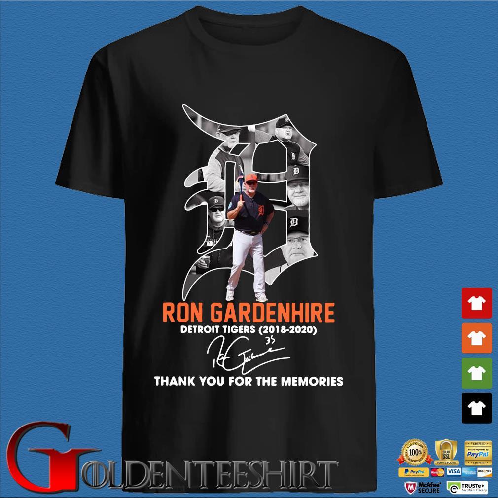 Ron Gardenhire Detroit Tigers 2018-2020 thank you for the memories signature s den Shirt