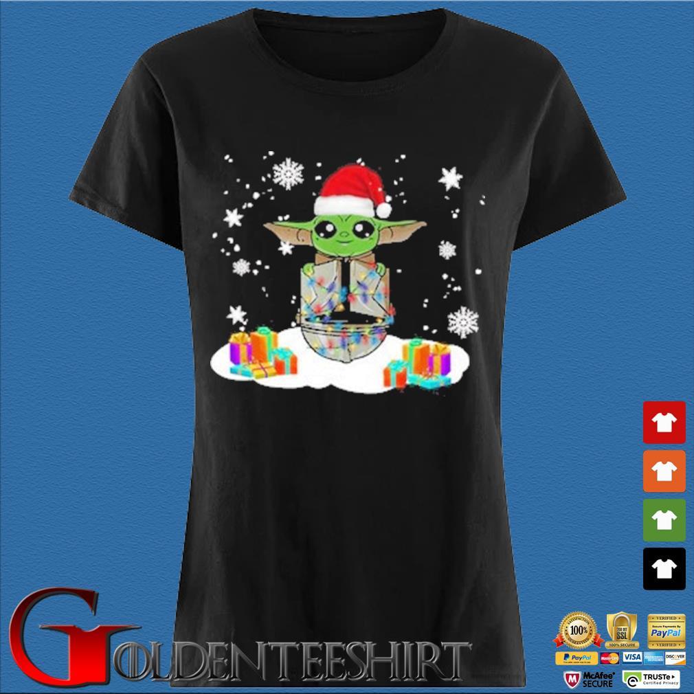 Santa Baby Yoda and The Mandalorian Christmas sweater Den Ladies