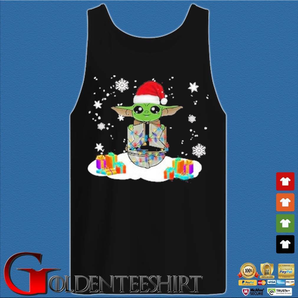 Santa Baby Yoda and The Mandalorian Christmas sweater Tank top den