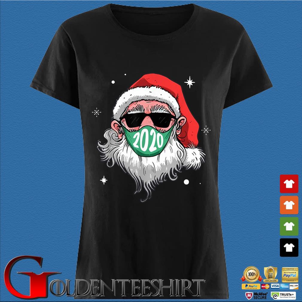Santa Claus face mask 2020 Christmas sweater Den Ladies