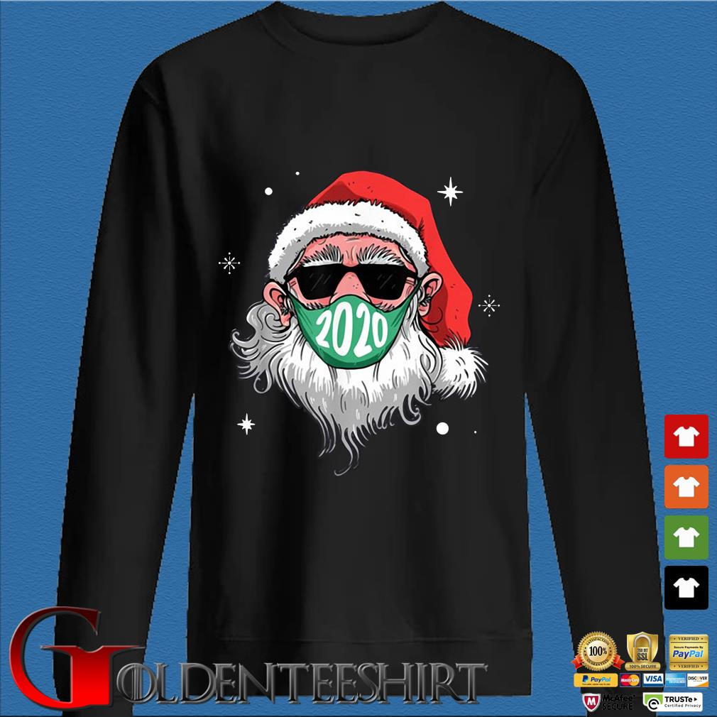 Santa Claus face mask 2020 Christmas sweater
