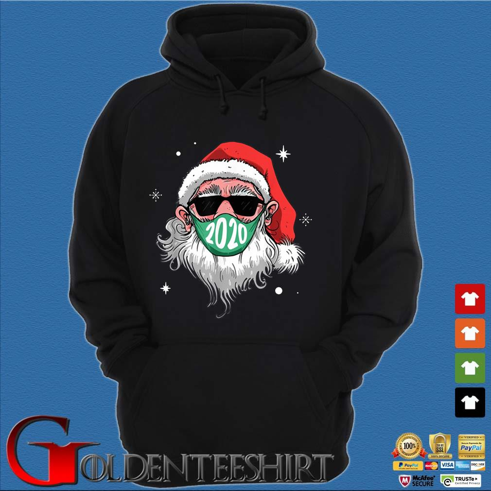 Santa Claus face mask 2020 Christmas sweater Hoodie đen