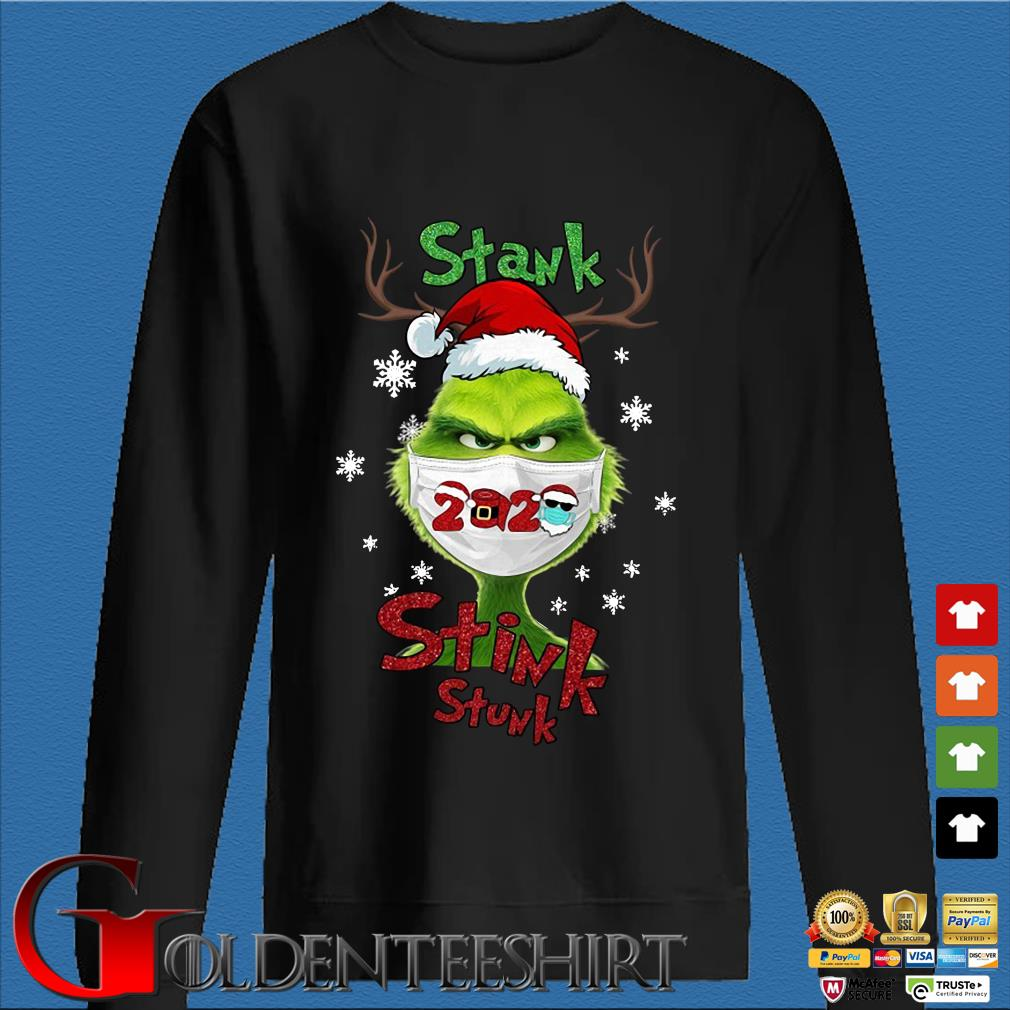Santa Reindeer Grinch face mask 2020 stank stink stunk Christmas sweater