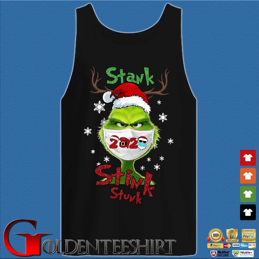 Santa Reindeer Grinch face mask 2020 stank stink stunk Christmas sweater Tank top den