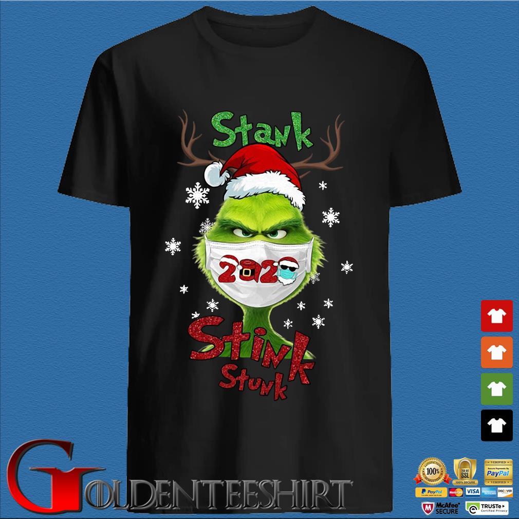 Santa Reindeer Grinch face mask 2020 stank stink stunk Christmas sweater den Shirt