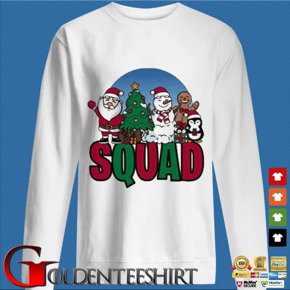 Santa Snowman Penguins Squad Christmas Sweater