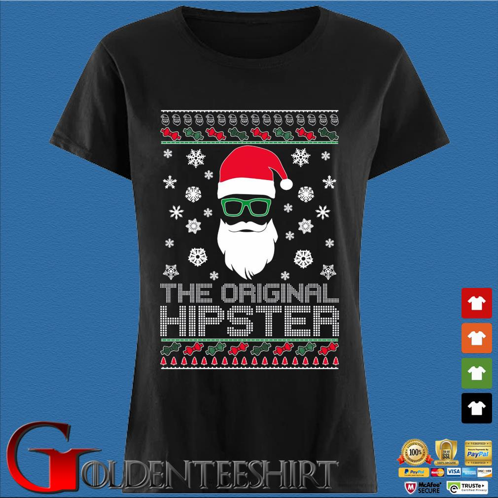 Santa the original hipster Ugly Christmas sweater Den Ladies