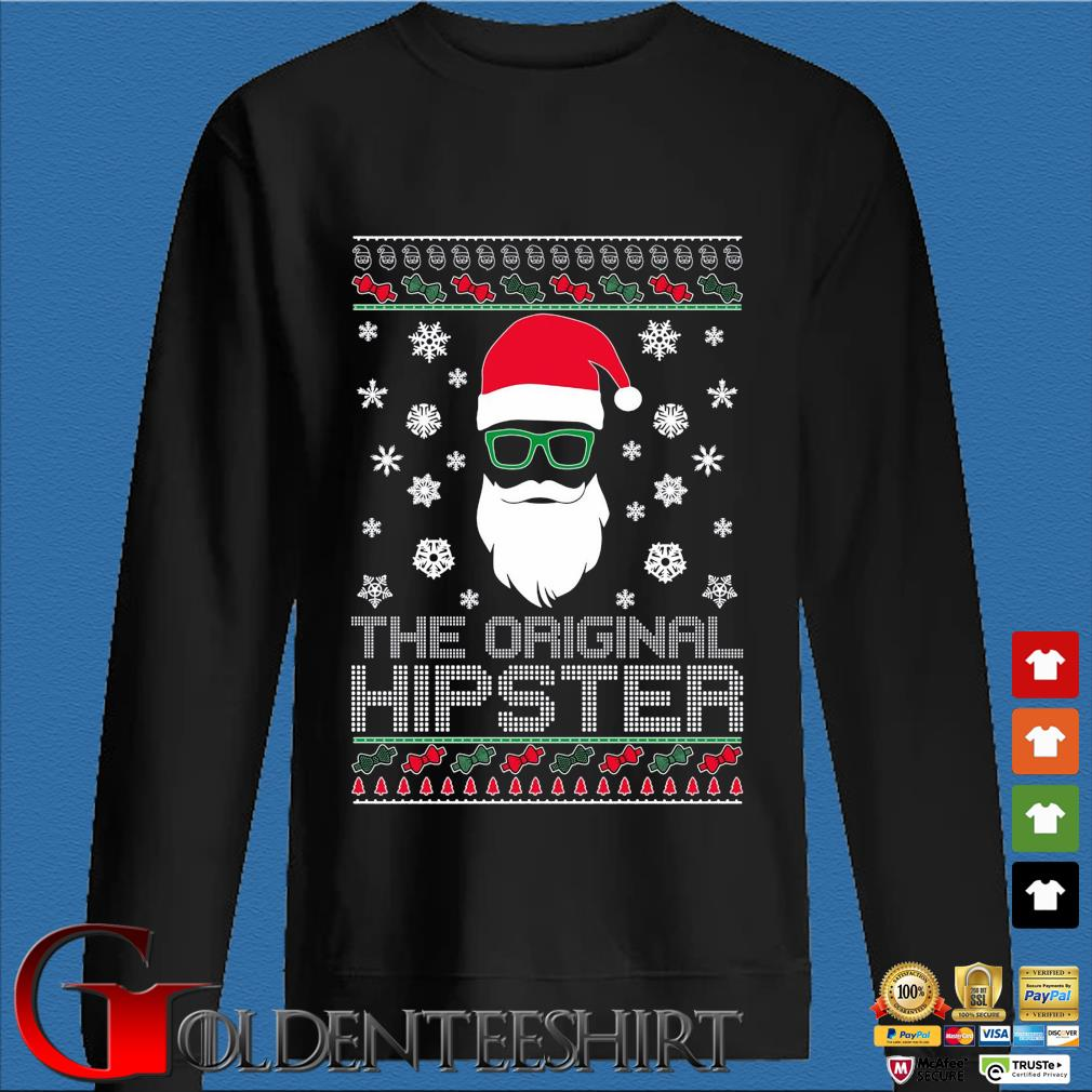 Santa the original hipster Ugly Christmas sweater