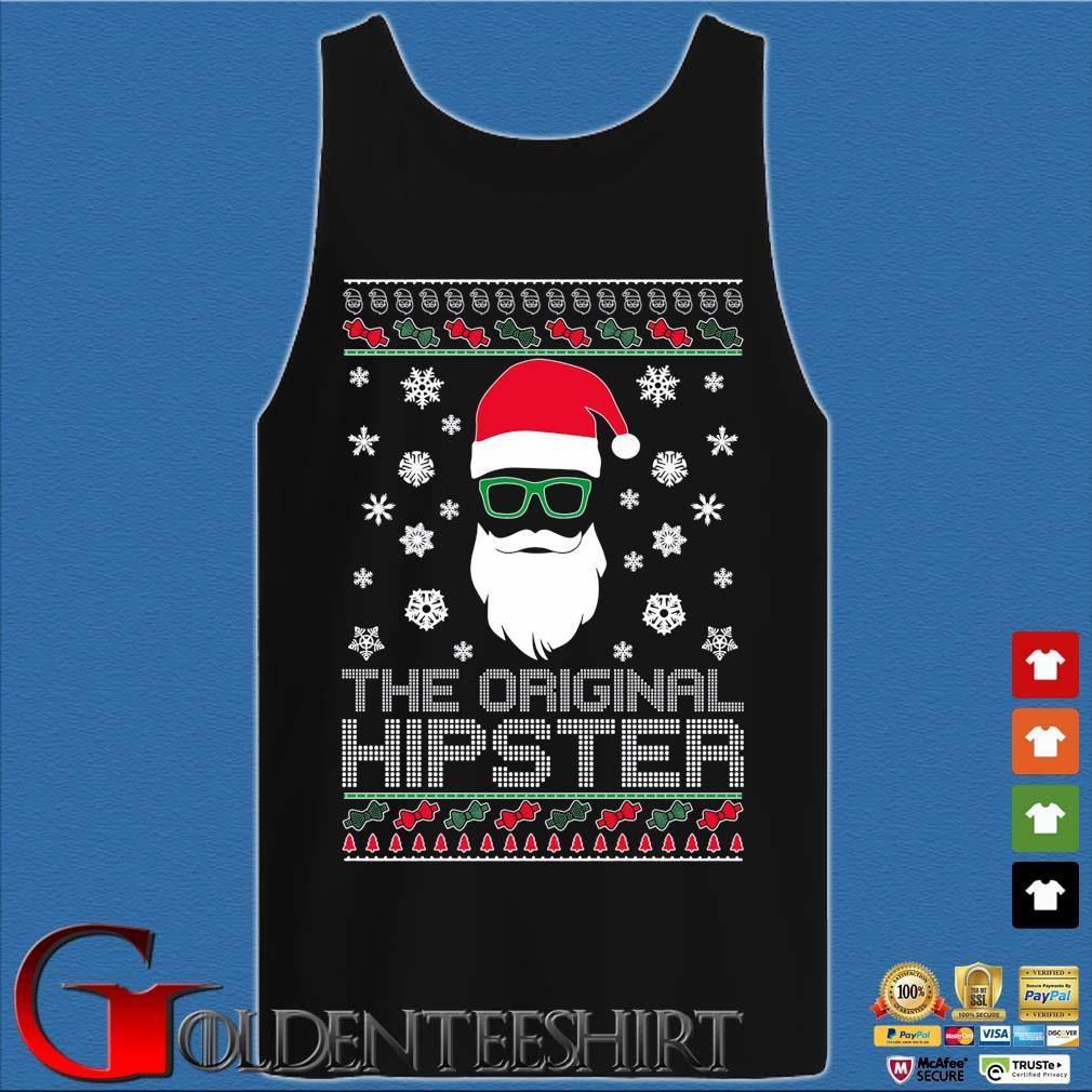 Santa the original hipster Ugly Christmas sweater Tank top den