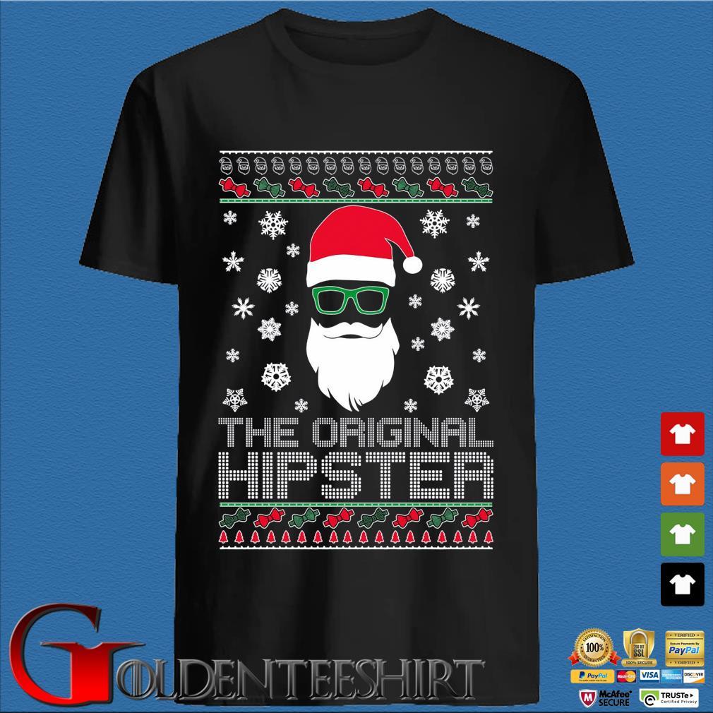 Santa the original hipster Ugly Christmas sweater den Shirt