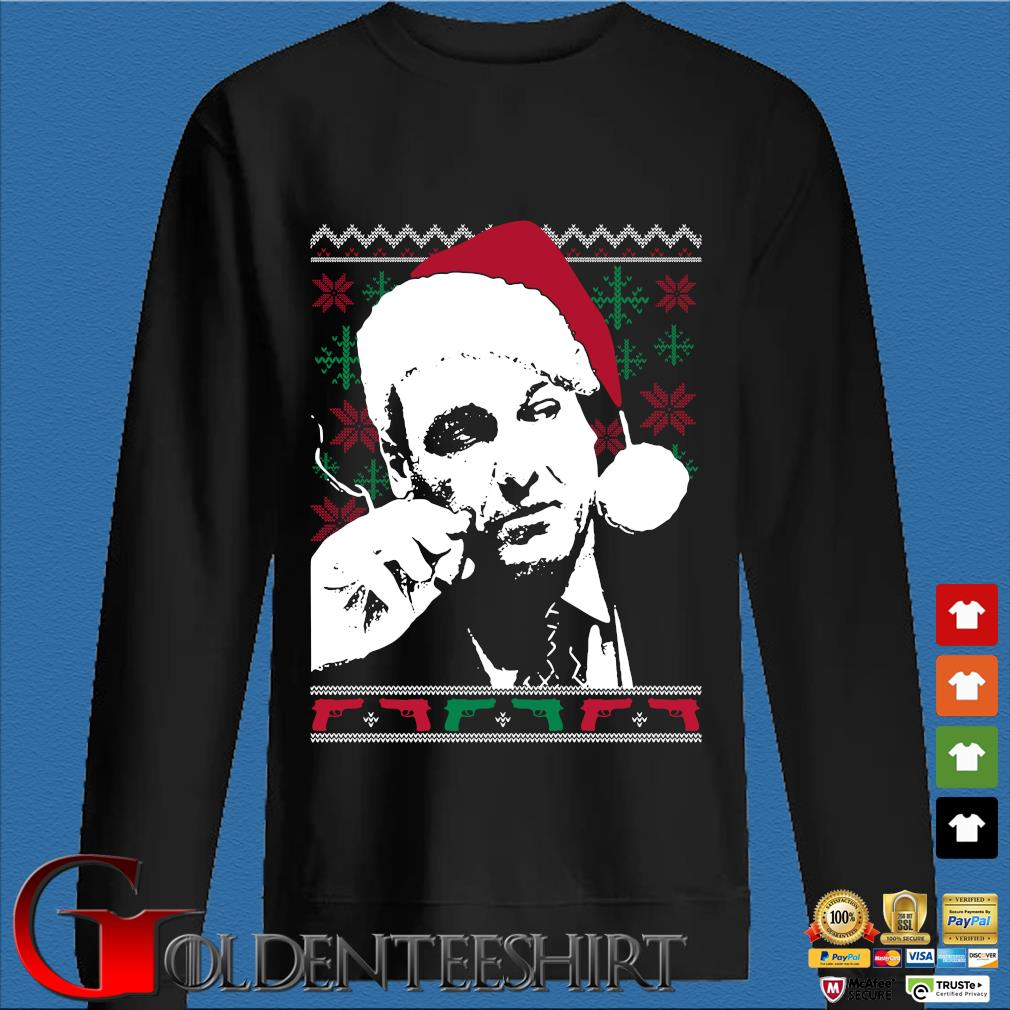 Santa Tony Soprano Ugly Christmas sweater