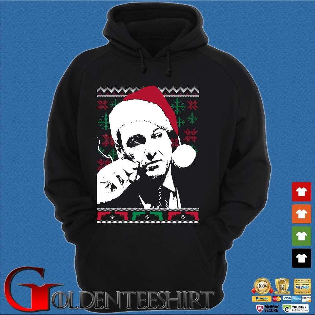 Santa Tony Soprano Ugly Christmas sweater Hoodie đen