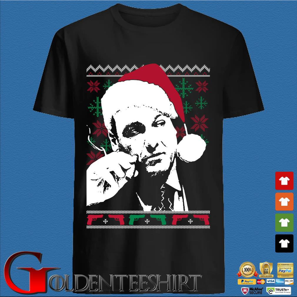 Santa Tony Soprano Ugly Christmas sweater den Shirt