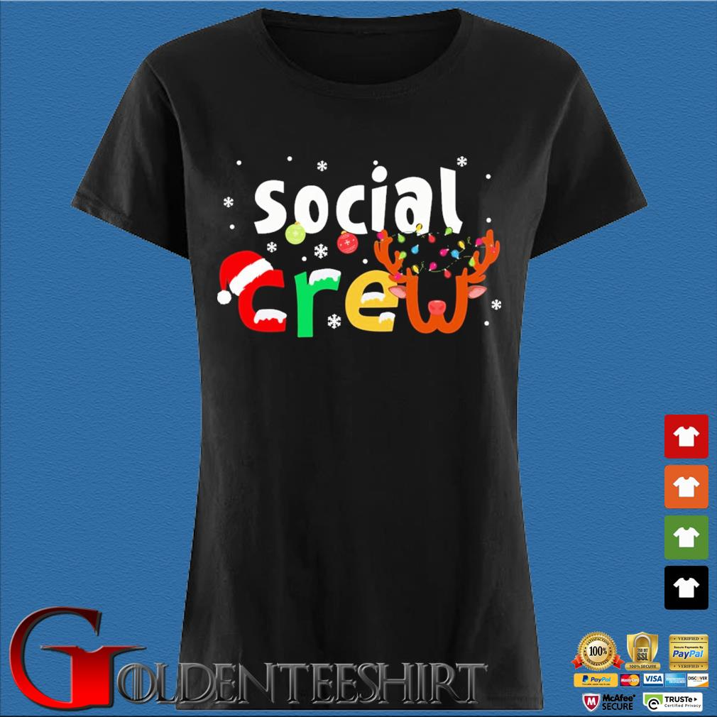 Social Crew Christmas Sweater Den Ladies