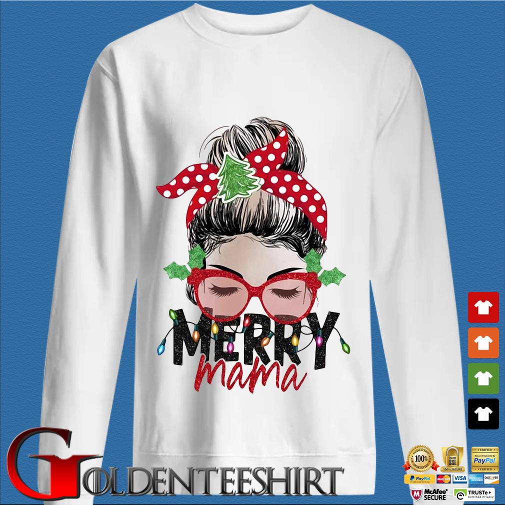 Strong Girl Merry Mama Christmas Sweater