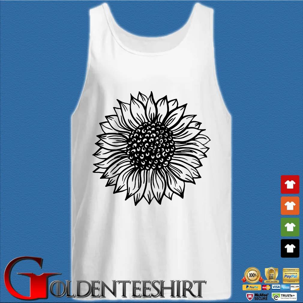 Sunflower Black And White Shirt Tank top trắng