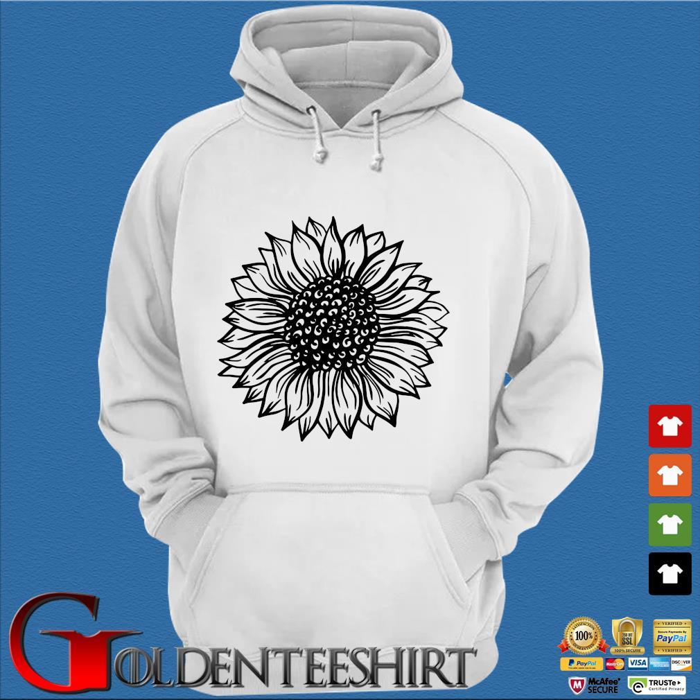 Sunflower Black And White Shirt Trang Hoodie