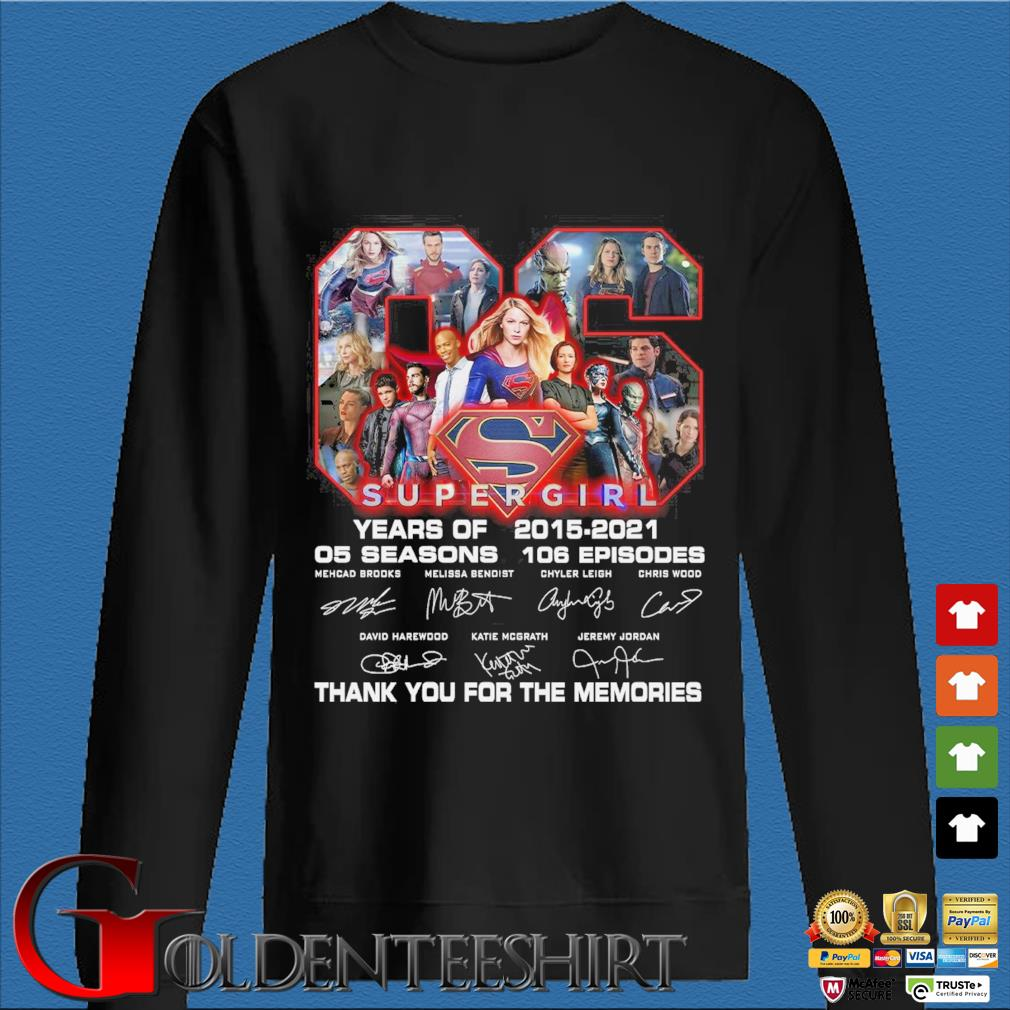 Super Girl 66 years of 05 season 106 episode thank you for the memories signatures shirt