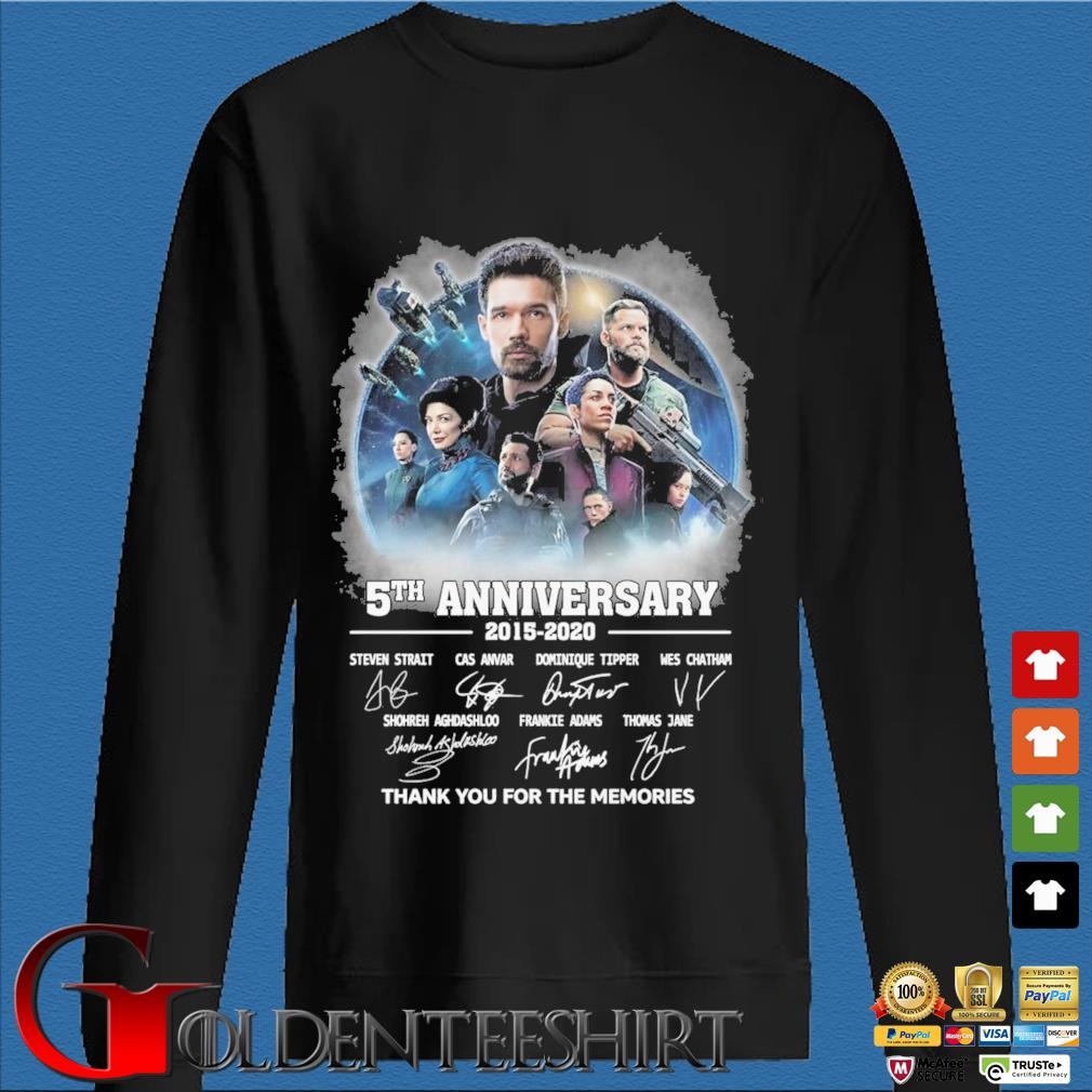 The Expanse 5th anniversary 2015-2020 thank you for the memories signatures shirt