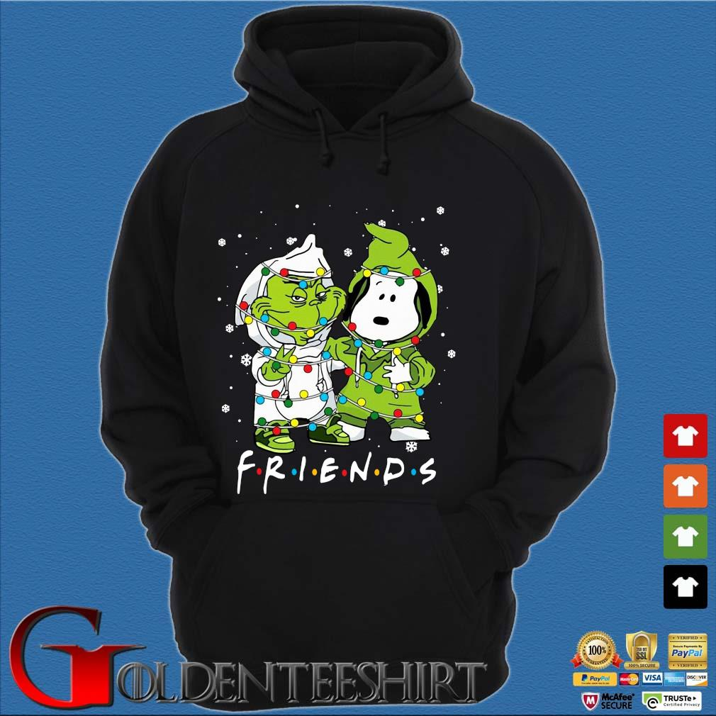 The Grinch and Snoopy friends Christmas sweater Hoodie đen