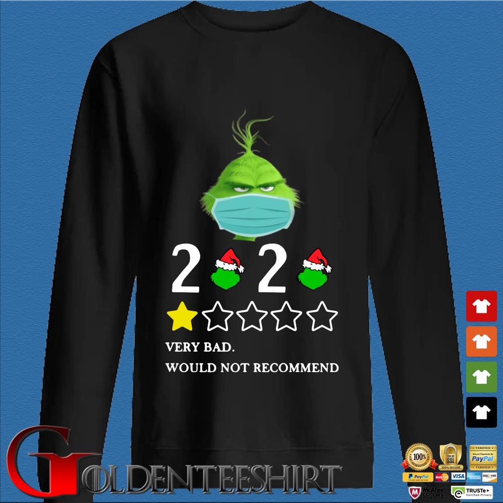 The Grinch face mask 2020 very bad would not recommend shirt