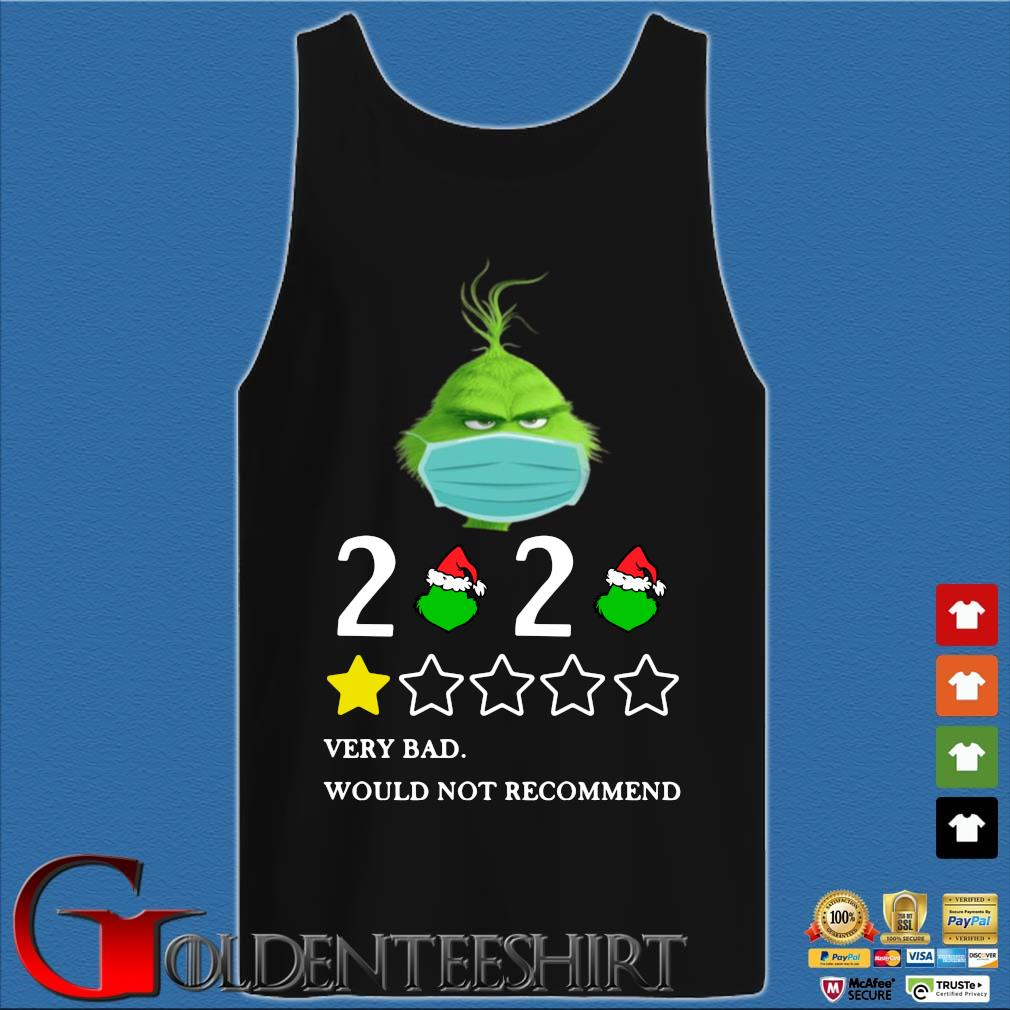 The Grinch face mask 2020 very bad would not recommend s Tank top den