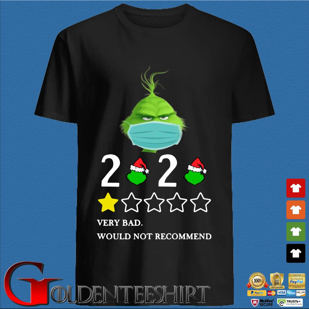 The Grinch face mask 2020 very bad would not recommend s den Shirt
