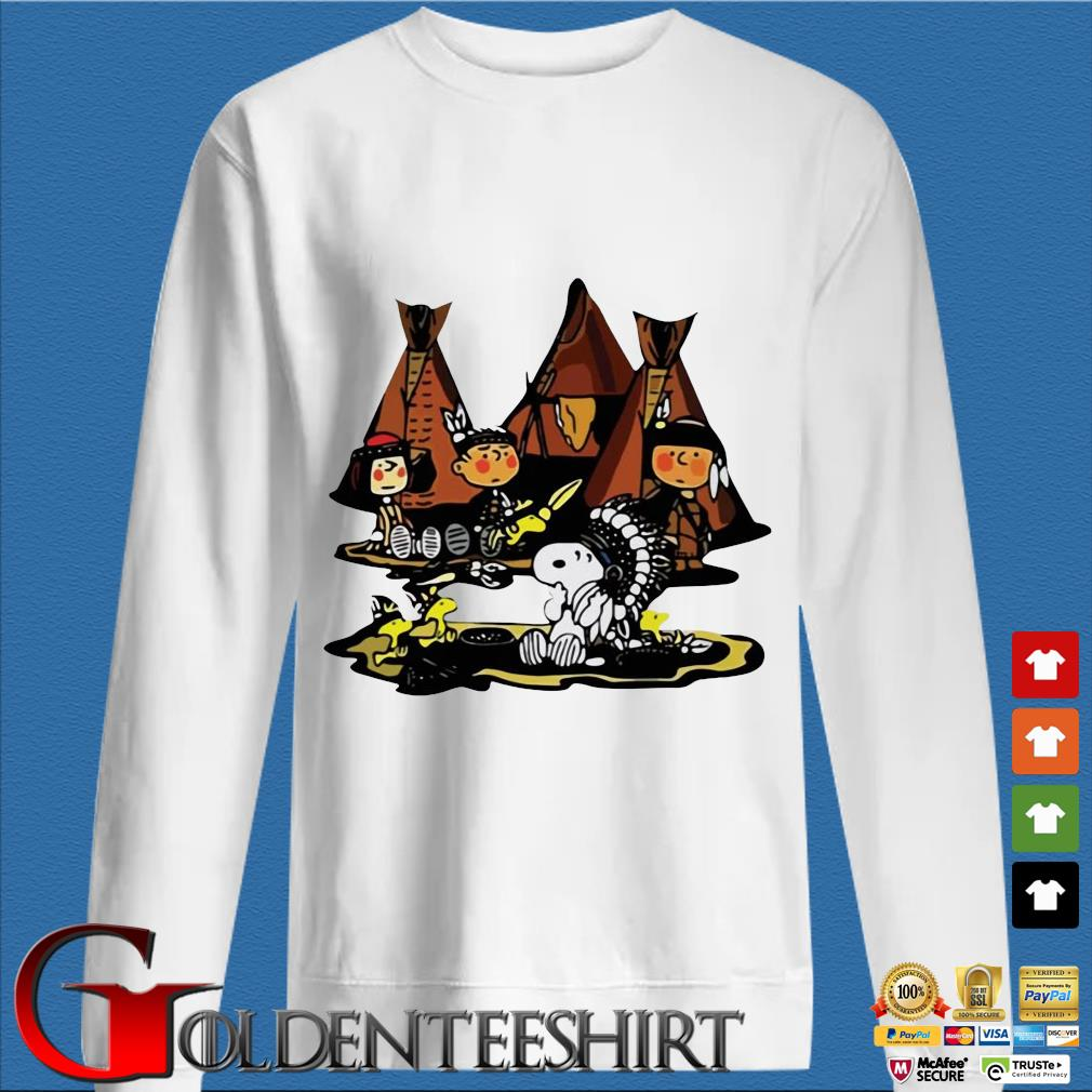 The Peanuts Character Snoopy And Friends Camping Native Shirt