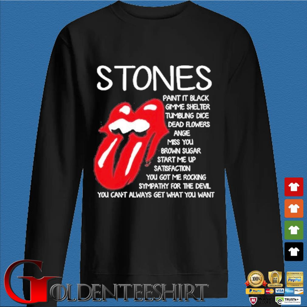 The Rolling Stones paint it black gimme shelter tumbling dice dead flowers shirt