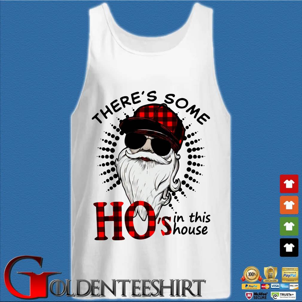 There's Some Hos In This House Santa Claus Christmas Sweater Tank top trắng