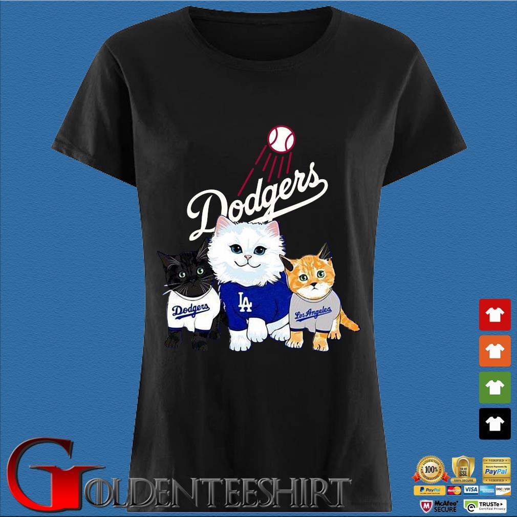 Three cat black white and yellow Los Angeles Dodgers s Den Ladies