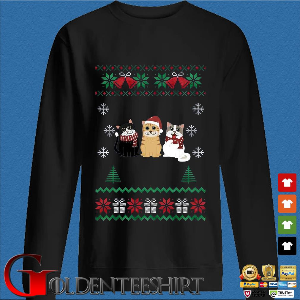 Three cats Merry Christmas Ugly sweater